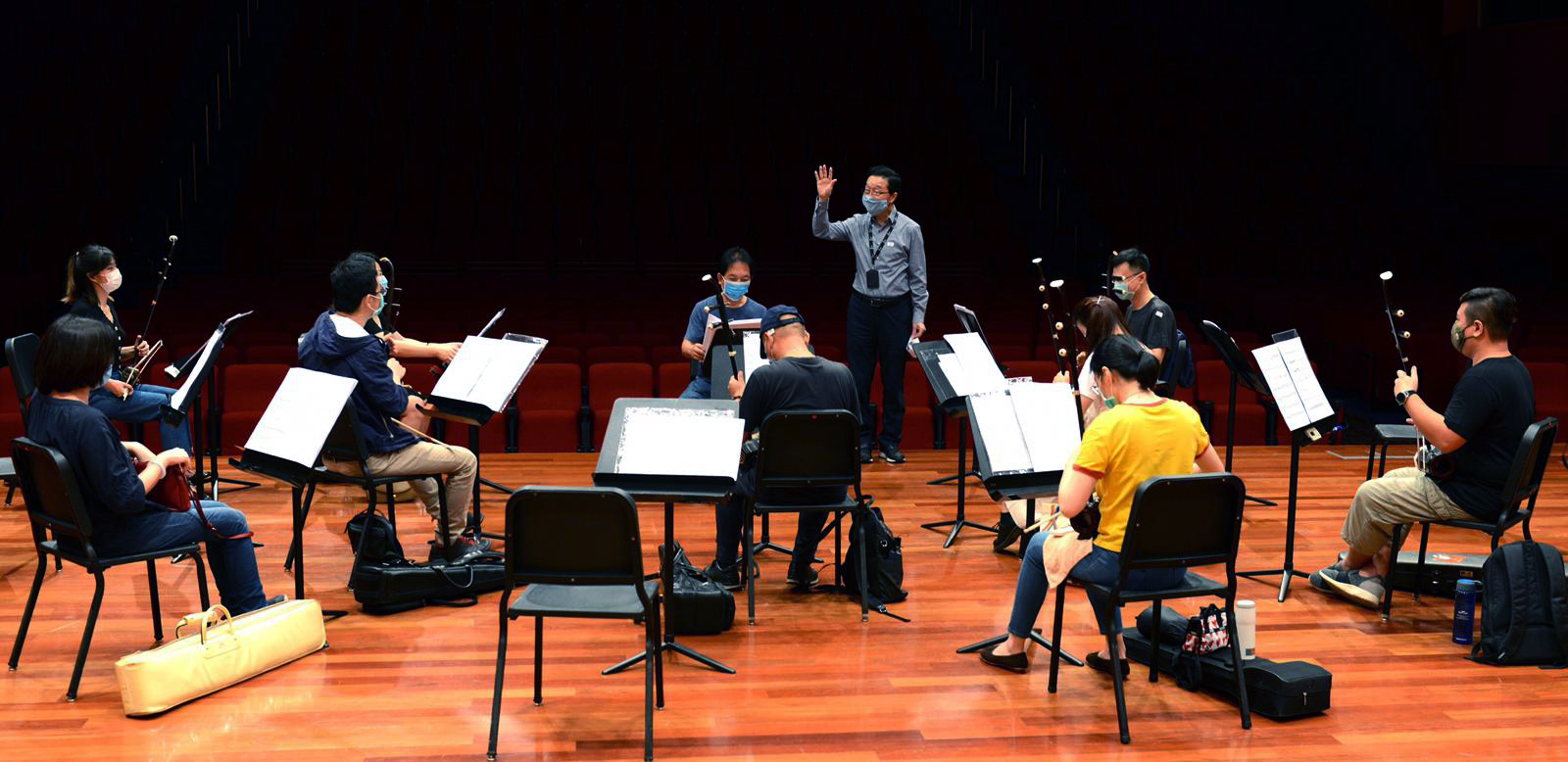 sco-photo-editorial-23 COVID-19 Phase 2: Lights on! Singapore Chinese Orchestra back to rehearsal after 91 days