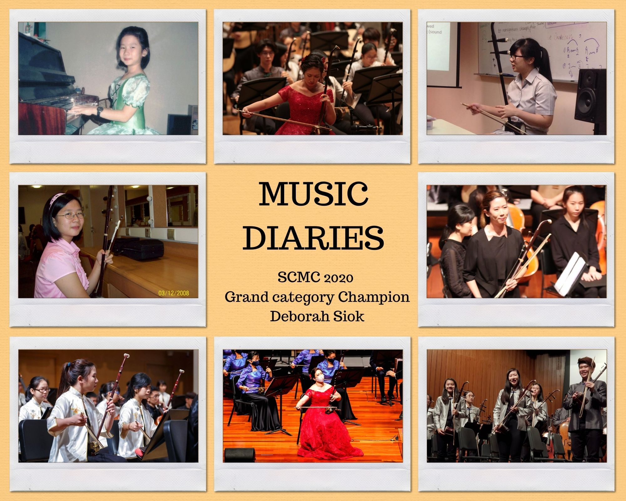 Music Diaries - Reflections of First Grand Champion in SCMC 2020